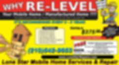 Lone Star Mobile Home Leveling   Relevel   Re-Levelig   Releveling