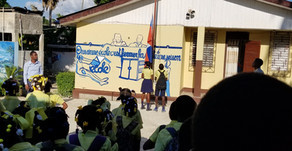 SALUTING THE FLAG AND SINGING THE NATIONAL ANTHEM AT THE BEGINNING OF THE SCHOOL DAY