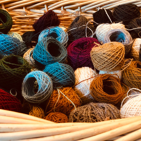 How To Wind a Skein of Tapestry Yarn Into a Yarn Ball Fast.