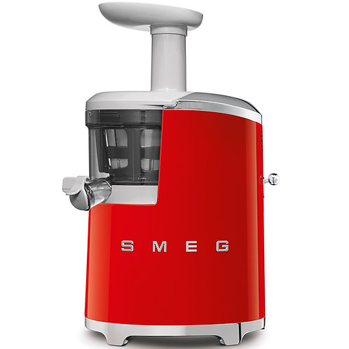 SMEG SJF01BLUS 50's Retro Style Aesthetic Slow Juicer, Red