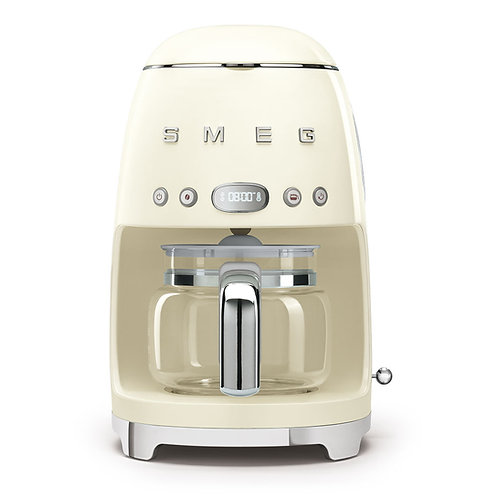 SMEG DCF02CRUS 50's Retro Style Aesthetic Drip Coffee Machine, Cream