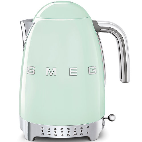 SMEG KLF04PGUS 50's Retro Style Variable Temperature Kettle, Pastel Green