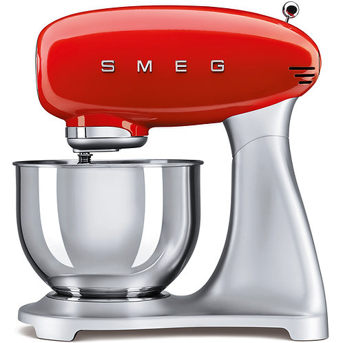 SMEG SMF01RDUS 50's Retro Style Aesthetic Stand Mixer, Red