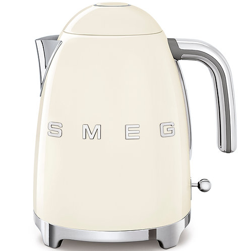 SMEG KLF03CRUS 50's Retro Style Aesthetic Electric Kettle, Cream