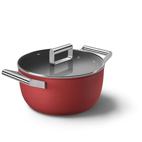 SMEG CKFC2411CRM Retro-style Casserole Dish 24cm, Red