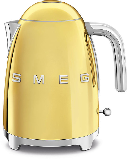 SMEG KLF03GOUS 50's Retro Style Aesthetic Electric Kettle, Gold