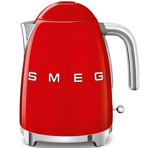 SMEG KLF03RDUS 50's Retro Style Aesthetic Electric Kettle, Red