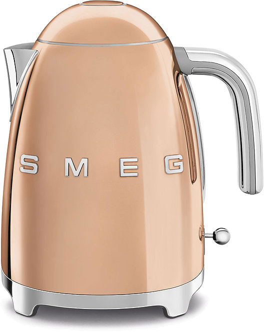 SMEG KLF03RGUS 50's Retro Style Aesthetic Electric Kettle, Rose Gold