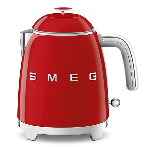 SMEG KLF05RDUS 50's Retro Style Aesthetic Electric Mini-Kettle, Red