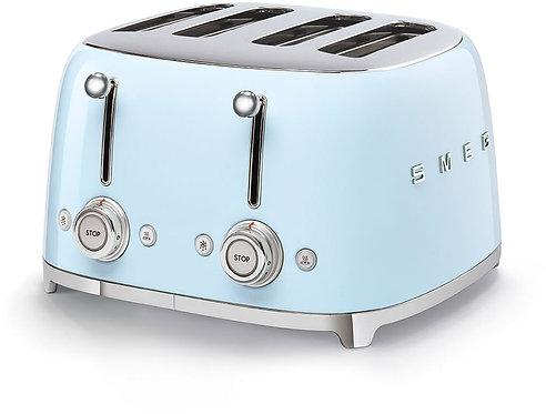 SMEG TSF03PBUS 50's Retro Style Aesthetic 4 Slot Toaster, Pastel Blue