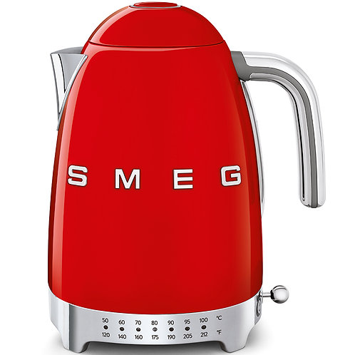 SMEG KLF04RDUS 50's Retro Style Variable Temperature Kettle, Red