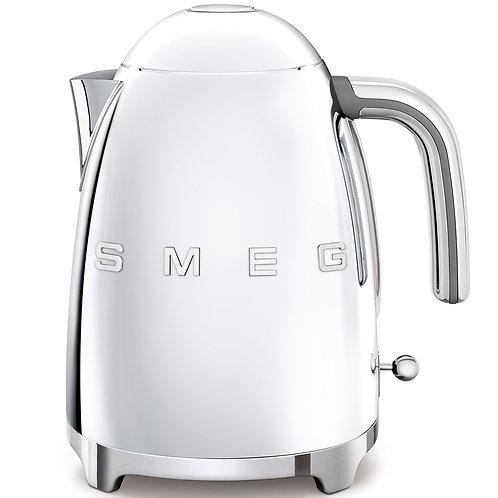 SMEG KLF03SSUS 50's Retro Style Aesthetic Electric Kettle, Chrome