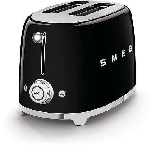 SMEG TSF01BLUS 50's Retro Style Aesthetic 2 Slice Toaster, Black