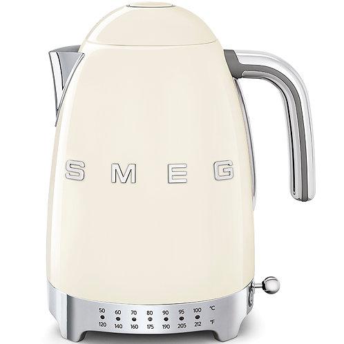 SMEG KLF04CRUS 50's Retro Style Variable Temperature Kettle, Cream