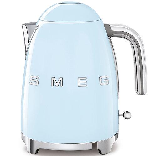 SMEG KLF03PBUS 50's Retro Style Aesthetic Electric Kettle, Pastel Blue