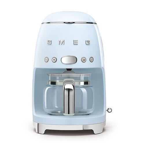 SMEG DCF02PBUS 50's Retro Style Aesthetic Drip Coffee Machine, Pastel Blue