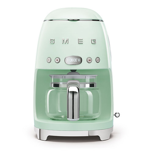 SMEG DCF02PGUS 50's Retro Style Aesthetic Drip Coffee Machine, Pastel Green