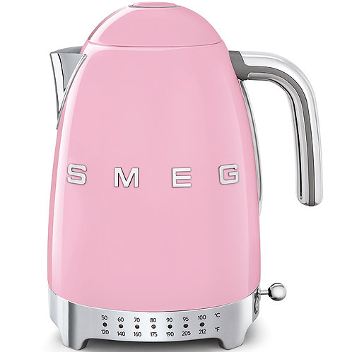 SMEG KLF04PKUS 50's Retro Style Variable Temperature Kettle, Pink