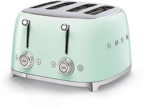 SMEG TSF03PGUS 50's Retro Style Aesthetic 4 Slot Toaster, Pastel Green