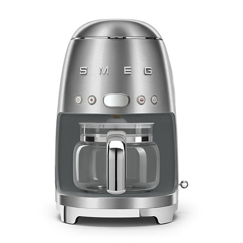 SMEG DCF02SSUS 50's Retro Style Aesthetic Drip Coffee Machine, Chrome
