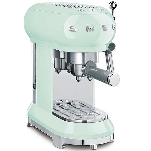 SMEG ECF01PGUS 50's Retro Style Aesthetic Espresso Coffee Machine, Pastel Green