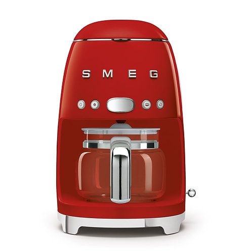SMEG DCF02RDUS 50's Retro Style Aesthetic Drip Coffee Machine, Red