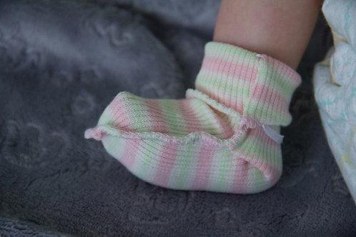 Носки для недоношенных с отворотом, с завязками