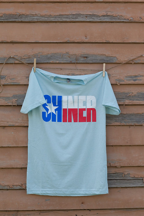 Light Blue Texas Flag Shiner T-Shirt