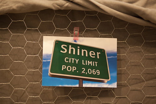 Shiner City Limit Postcard