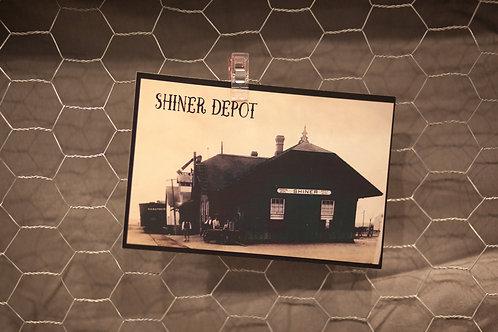 Shiner Depot Postcard