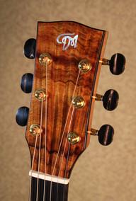 Acoustic guitar headstock in curly koa