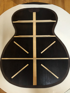 Rosewood guitar back bracing pattern