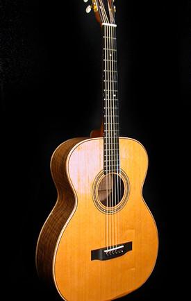 Walnut and cedar 12-fret guitar
