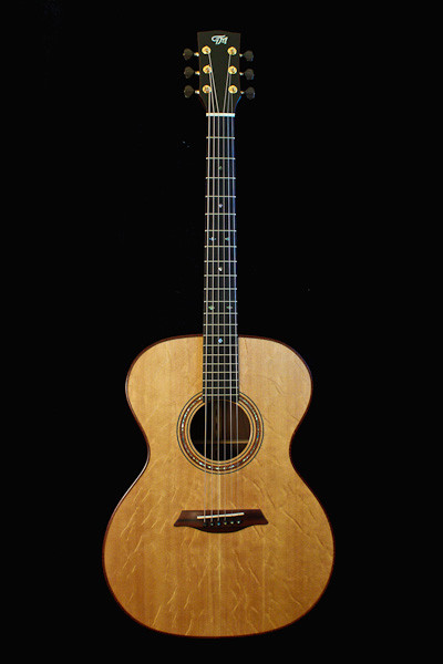 Madagascar rosewood and bearclaw spruce guitar with phi proportions