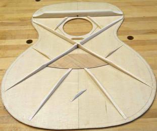 Sitka spruce top bracing