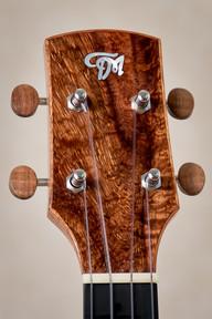 Tenor ukulele with curly koa headplate