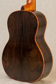 Ziricote back and sides with curly koa binding