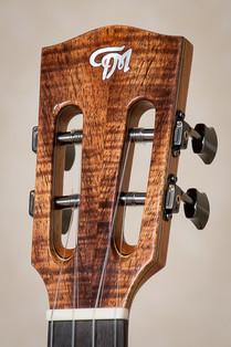 Tenor ukulele slotted headstock in koa