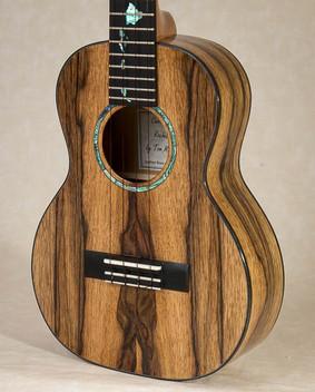 Spalted black limba tenor ukulele