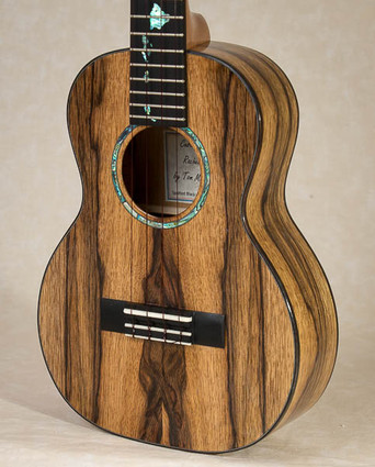 Spalted black limba tenor ukulele