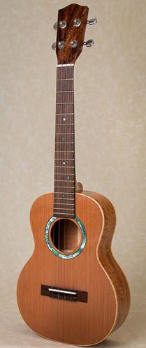 Curly mahogany and cedar tenor ukulele