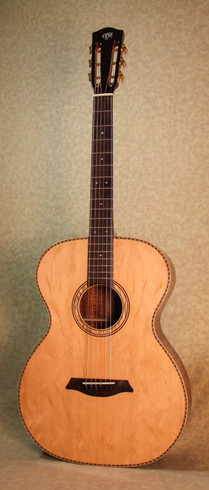 Koa 12-fret phi proportioned guitar with bearclaw top
