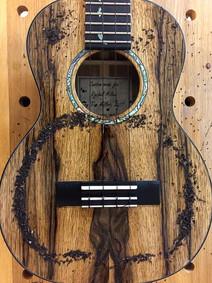 Tenor ukulele Chladni pattern, monopole at 320 Hz