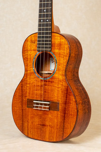 Curly koa tenor with curly koa binding