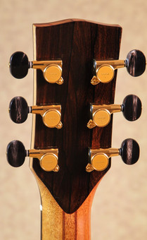 Acoustic guitar headstock backplate in Ziricote