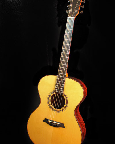Cocobolo and Englemann spruce guitar with phi proportions