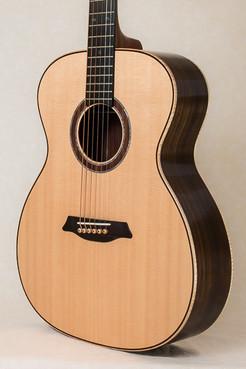 Rosewood OM guitar body