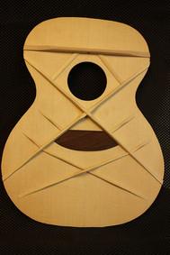 Koa phi guitar bracing double-X