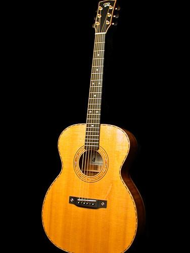 OM guitar with curly koa