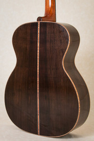 Body of OM guitar with rosewood back